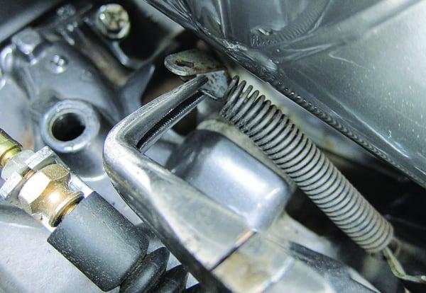 Long Reach Pliers in situ