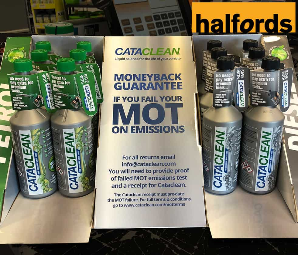 Cataclean additive for the MOT Test