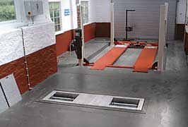 One man testing Brake Pedal Depressor *VOSA APPROVED*required for A.T.L.s