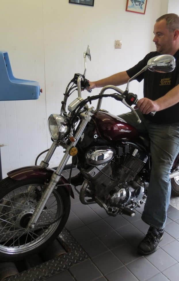 Motorcycle Testing – Sitting on the machine