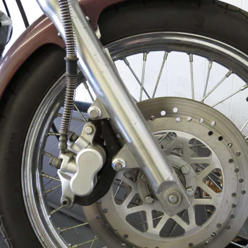 Motorcycle MOT Test - wheels