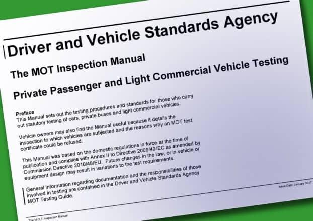 UK Car MOT Inspection Manual