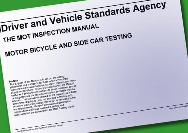 UK Motorcycle MOT Inspection Manual