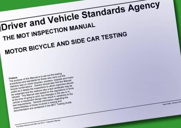 UK Motorcycle MOT Inspection Manual