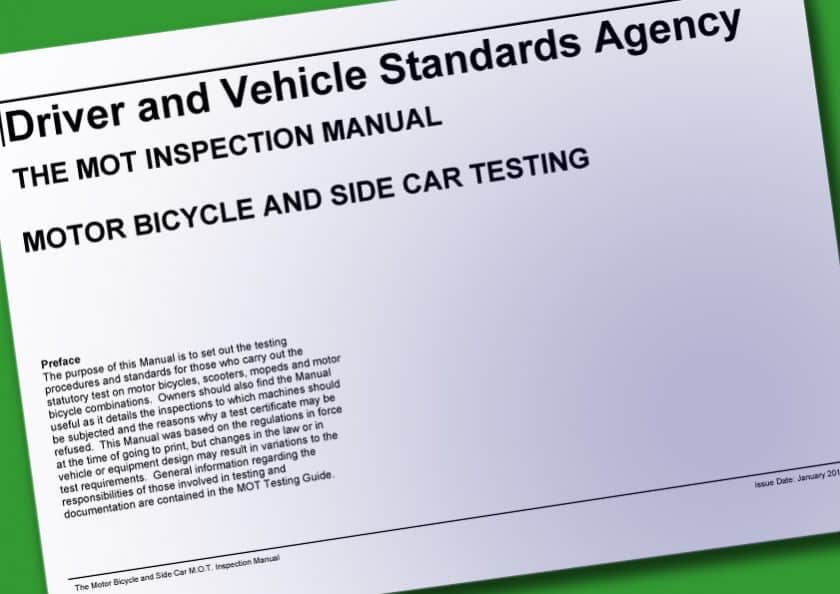 UK Motorcycle Inspection Manual