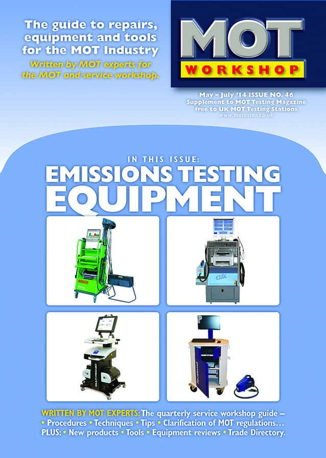 Mot Workshop 46 Emissions Equipment Review Mot Test Information