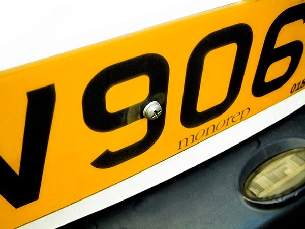 Number Plate Registration No