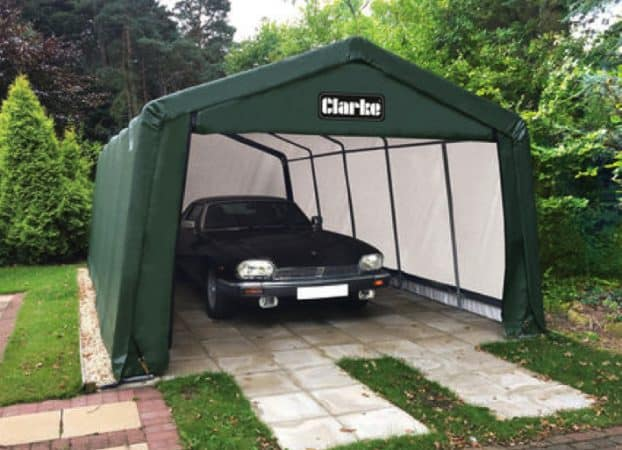 "Clarke heavy duty ""instant"" garages"