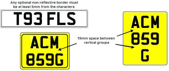 New MOT number plate layout regs