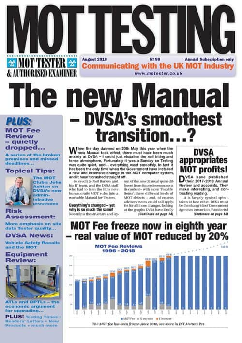 MOT Testing Magazine 98 August 2018