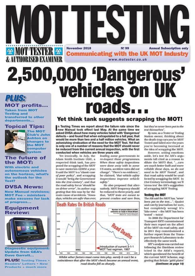 MOT Testing Magazine 99 November 2018