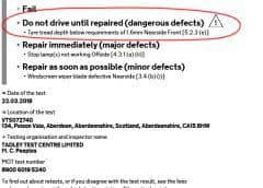 """My car is """"Dangerous to drive"""" – What can I do?"""
