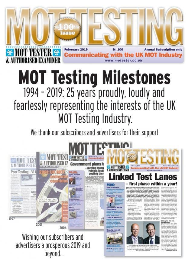 MOT Testing agazine 100th Issue