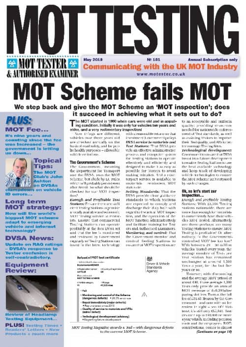MOT Testing Magazine 101 May 2019