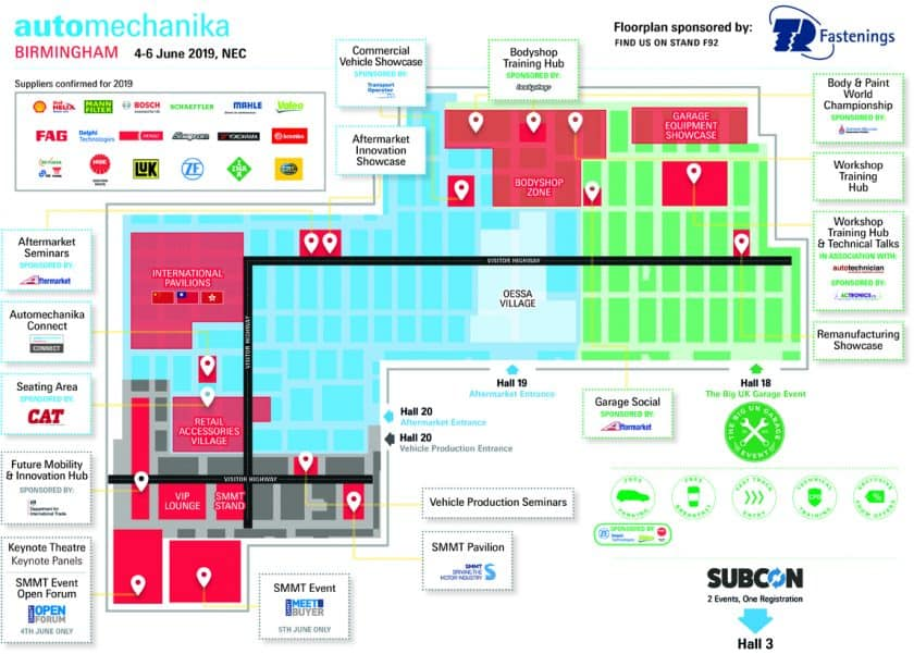 Automechanika 2019 Floorplan