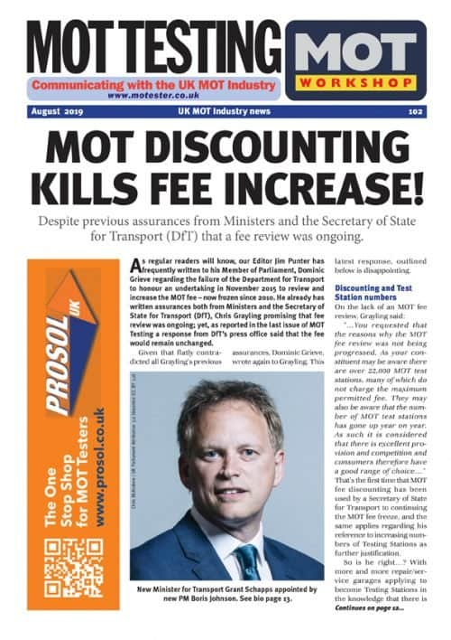MOT Testing & Workshop Magazine 102 August 2019