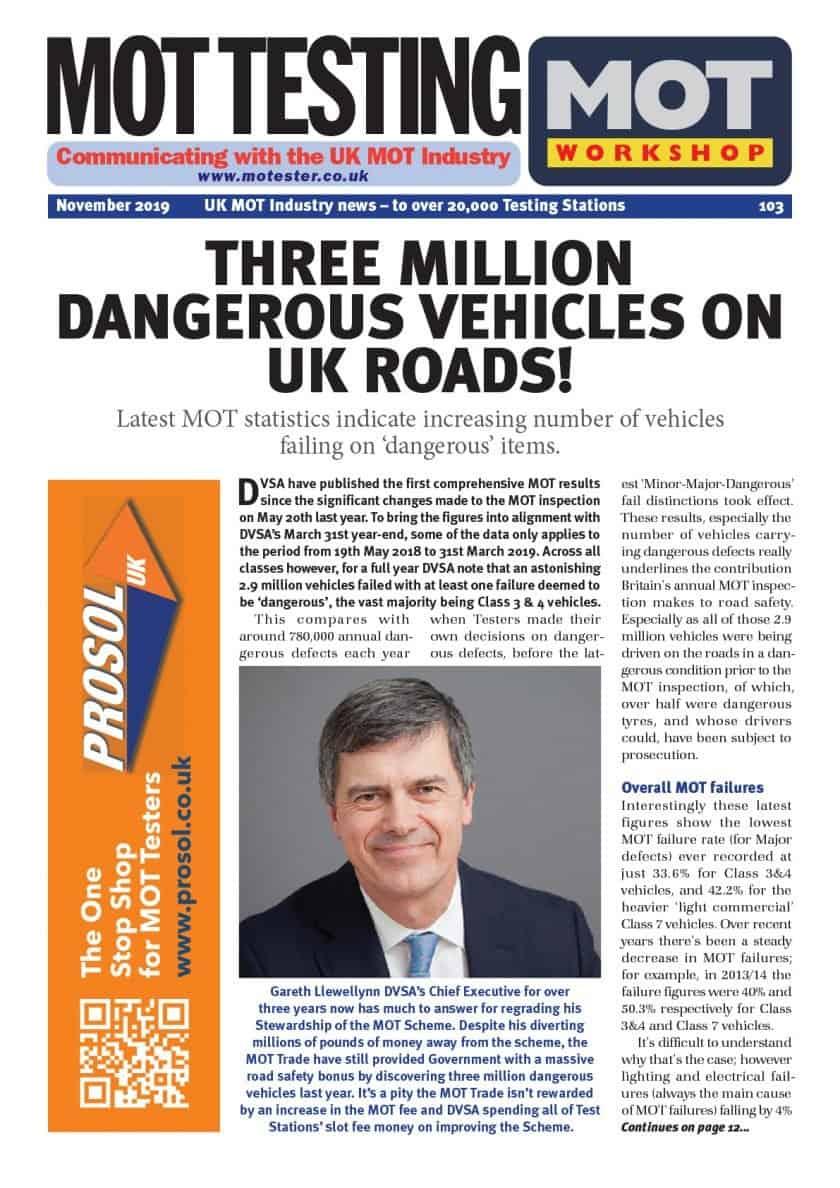 MOT Testing Magazine front cover