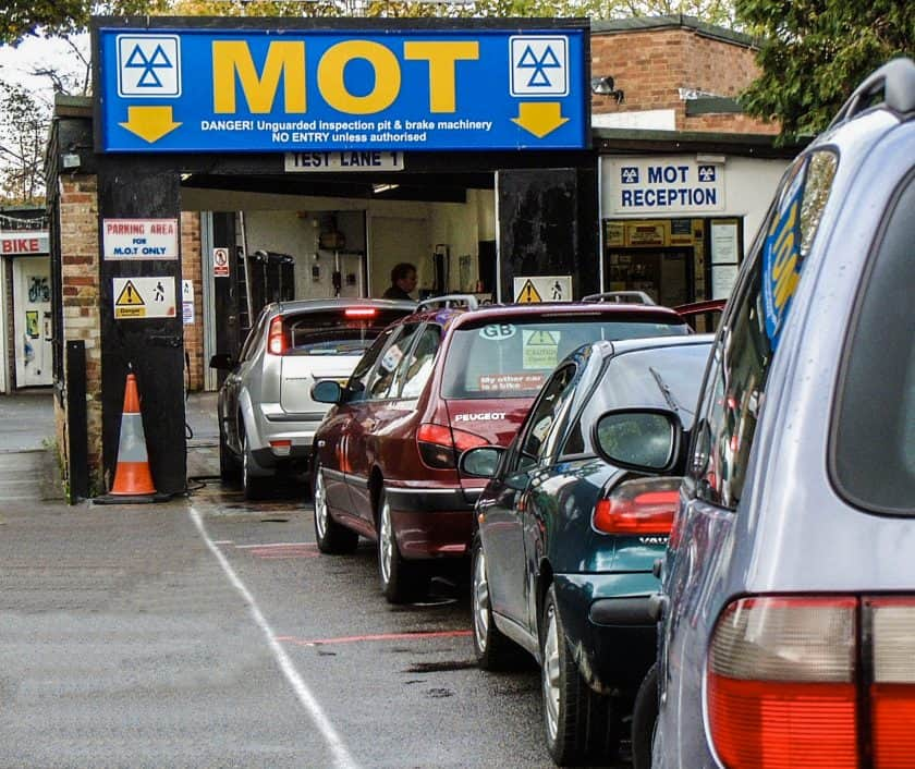 MOT Testing Station - cars