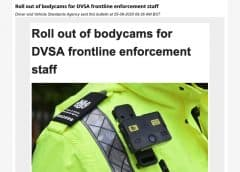 DVSA offficial wearing bodycam