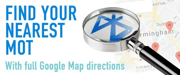 Find your nearest MOT